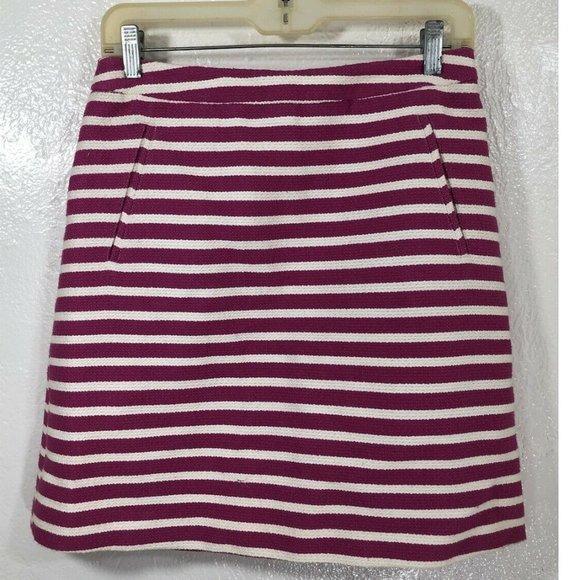 Halogen Striped Skirt Fully Lined Welt Pockets